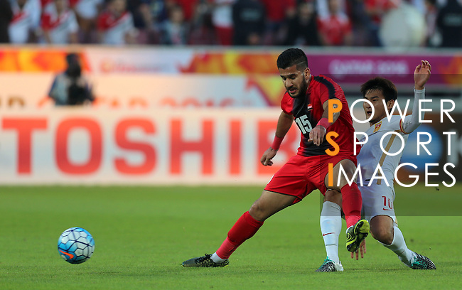 China PR vs Syria during the AFC U23 Championship 2016 Group A match on January 15, 2016 at the Abdullah Bin Khalifa Stadium in Doha, Qatar. Photo by Karim Jaafar / Lagardère Sports