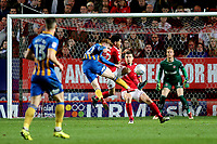 Jon Nolan scores Shrewsbury Town's opening goal during Charlton Athletic vs Shrewsbury Town, Sky Bet EFL League 1 Play-Off Football at The Valley on 10th May 2018