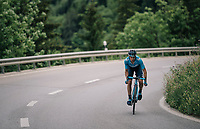 Mikel Landa (ESP/Movistar) ahead solo with just 3km to go<br /> <br /> Stage 5: Gstaad &gt; Leukerbad (155km)<br /> 82nd Tour de Suisse 2018 (2.UWT)