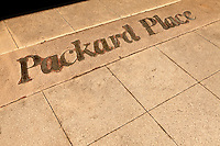 Photography of Packard Place business incubator.  Located in the heart of uptown Charlotte, NC, Packard Place is a hub for entrepreneurship and innovation, helping to grow business startups in the community.
