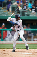 Kane County Cougars center fielder Anfernee Grier (10) at bat during a game against the South Bend Cubs on May 3, 2017 at Four Winds Field in South Bend, Indiana.  South Bend defeated Kane County 6-2.  (Mike Janes/Four Seam Images)