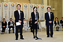 (L to R) Kazuhiko Shimizu, Kaori Yamaguchi, Hisashi Sanada, FEBRUARY 28, 2013 : Tokyo Olympic and Paralympic Games 2020 bidding committee held the conclusion of a cooperation with a university and Tokyo agreement ceremony .in order to advance the bidding activities of Tokyo Olympic and Paralympic Games 2020. at Tokyo Metropolitan Government Office in Tokyo, Japan. (Photo by Jun Tsukida/AFLO SPORT)