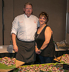 Chef Clint Jolly and Kelly Burr during the Big Chefs, Big Gala event at the Grand Sierra Resort in Reno on April 8, 2017.
