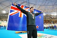 Eddie Dawkins of New Zealand wins silver in the Men's 1000m Time Trial. Gold Coast 2018 Commonwealth Games, Track Cycling, Anna Meares Velodrome, Brisbane, Australia. 8 April 2018 © Copyright Photo: Anthony Au-Yeung / www.photosport.nz /SWpix.com