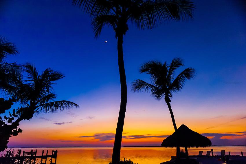 Sunset, Kona Kai Resort, Key Largo, Florida Keys, Florida USA