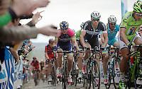 Zdenek Stybar (CZE/OPQS) in Peter Sagans (SVK/Cannondale) wheel over the Oude Kwaremont<br /> <br /> Ronde van Vlaanderen 2014