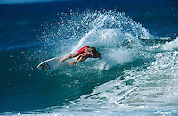 Mark Occhilupo (AUS) carving at Kirra Queensland Australia - early 1990's .Photo:  joliphotos.com