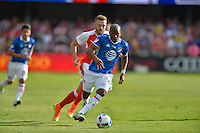 San Jose, CA - Thursday July 28, 2016: Darlington Nagbe during a Major League Soccer All-Star Game match between MLS All-Stars and Arsenal FC at Avaya Stadium.