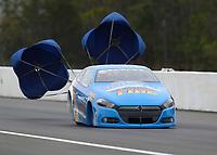 Mar 17, 2019; Gainesville, FL, USA; NHRA pro stock driver Alan Prusiensky during the Gatornationals at Gainesville Raceway. Mandatory Credit: Mark J. Rebilas-USA TODAY Sports