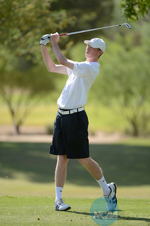 04 MAY 2013:  The Mountain West Conference Men's Golf Championship takes place at the Omni Tucson National Golf Course in Tucson, AZ.  Jamie Schwaberow/NCAA Photos
