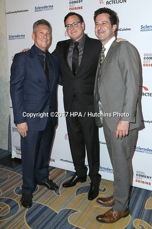 LOS ANGELES - JUN 16:  Jeff Franklin, Bob Saget, Jonathan Silverman at the 30th Annual Scleroderma Benefit at the Beverly Wilshire Hotel on June 16, 2017 in Beverly Hills, CA