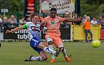 2018-06-23 / Voetbal / seizoen 2018 -2019 / KSK Heist - RSC Anderlecht / Bart Webers (l.KSK Heist) met Francis Amuzu ,Foto: Mpics.be