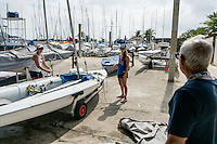 AR_07302016_RIO_HOUSTON_0136.ARW  © Amory Ross / US Sailing Team.  HOUSTON - TEXAS- USA. July 30, 2016. The US Sailing Team moves their boats and equipment from Niteroi, the training center for the past three years, across Guanabara Bay to the new Olympic sailing venue in Rio de Janeiro.