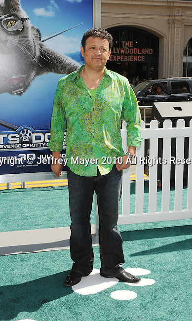 "HOLLYWOOD, CA. - July 25: Paul Rodriguez arrives at Los Angeles premiere of ""Cats & Dogs: The Revenge Of Kitty Galore"" on July 25, 2010 in Hollywood, california."