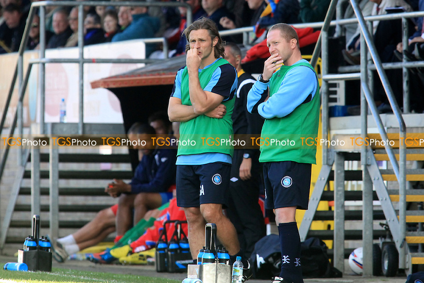 Wycombe Caretaker Manager, Gareth Ainsworth & Assistant Manager, Richard Dobson ponder their next move  - Dagenham & Redbridge vs Wycombe Wanderers - NPower League Two Football at the London Borough of Barking & Dagenham Stadium - 29/09/12 - MANDATORY CREDIT: Paul Dennis/TGSPHOTO - Self billing applies where appropriate - 0845 094 6026 - contact@tgsphoto.co.uk - NO UNPAID USE.