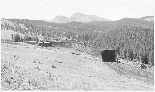 D&amp;RGW Marshall Pass snowshed west portal view.<br /> D&amp;RGW  Marshall Pass, CO  Taken by Richardson, Robert W. - mid 1955