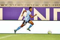 Orlando, FL - Saturday September 10, 2016: Maya Hayes during a regular season National Women's Soccer League (NWSL) match between the Orlando Pride and Sky Blue FC at Camping World Stadium.
