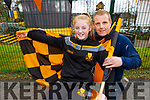 Dr Crokes supporter Leah McMahon with her dad Karl