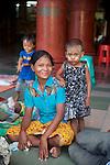 Woman & Child, Shwedagon Pagoda