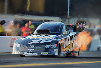Oct. 5, 2012; Mohnton, PA, USA: NHRA funny car driver Tony Pedregon during qualifying for the Auto Plus Nationals at Maple Grove Raceway. Mandatory Credit: Mark J. Rebilas-