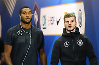 Jonathan Tah (Deutschland Germany) und Timo Werner (Deutschland Germany) im Spielertunnel - 16.10.2018: Frankreich vs. Deutschland, 4. Spieltag UEFA Nations League, Stade de France, DISCLAIMER: DFB regulations prohibit any use of photographs as image sequences and/or quasi-video.