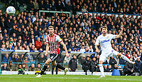 Leeds United's Mateusz Klich shoots from range<br /> <br /> Photographer Alex Dodd/CameraSport<br /> <br /> The EFL Sky Bet Championship - Leeds United v Brentford - Saturday 6th October 2018 - Elland Road - Leeds<br /> <br /> World Copyright &copy; 2018 CameraSport. All rights reserved. 43 Linden Ave. Countesthorpe. Leicester. England. LE8 5PG - Tel: +44 (0) 116 277 4147 - admin@camerasport.com - www.camerasport.com