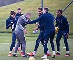 06.03.2020: Rangers training: Ianis Hagi, Borna Barisic, Tom Culshaw, Connor Goldson, Joe Aribo and George Edmundson