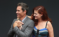 UNIVERSAL CITY, CA - AUGUST 02: Eric McCormack, Debra Messing, At 'Will & Grace' Start Of Production Kick Off Event And Ribbon Cutting Ceremony At Universal City Plaza  In California on August 02, 2017. Credit: FS/MediaPunch
