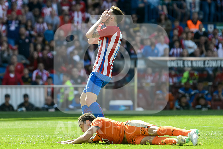 Atletico de Madrid's Sa&uacute;l &Ntilde;&iacute;gez during Liga Liga match between Atletico de Madrid and SD Eibar at Vicente Calderon Stadium in Madrid, May 06, 2017. Spain.<br /> (ALTERPHOTOS/BorjaB.Hojas)