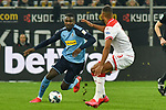 15.02.2020, Merkur Spiel-Arena, Duesseldorf, GER, 1. BL, Fortuna Duesseldorf vs. Borussia Moenchengladbach, DFL regulations prohibit any use of photographs as image sequences and/or quasi-video<br /> <br /> im Bild / picture shows: v. li. im Zweikampf Marcus Thuram  (#10, Borussia Moenchengladbach) Zanka (#19, Fortuna Duesseldorf) <br /> <br /> Foto © nordphoto/Mauelshagen