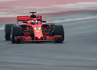 SEBASTIAN VETTEL (GER) of Scuderia Ferrari during Day 4 of the 2018 Formula 1 Testing at the Circuit de Catalunya, Barcelona. on 1st March 2018. Photo by Vince  Mignott.