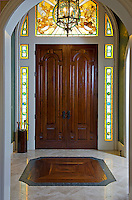 Custom stained glass with English motifs