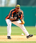9 March 2007: Baltimore Orioles infielder Miguel Tejada warms up prior to facing the Washington Nationals at Fort Lauderdale Stadium in Fort Lauderdale, Florida. <br /> <br /> Mandatory Photo Credit: Ed Wolfstein Photo