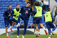 Chelsea's Andreas Christensen, warms up ahead of kick-off during Chelsea vs Huddersfield Town, Premier League Football at Stamford Bridge on 2nd February 2019