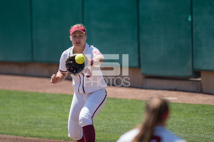 STANFORD, CA - May 3, 2015: The Stanford Cardinal vs Arizona State Sun Devils in softball at Boyd & Jill Smith Family Stadium in Stanford, California. Final score, Stanford 4, Arizona State 2.
