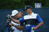 Brooks Koepka (USA) on the 15th tee during the final round at the PGA Championship 2019, Beth Page Black, New York, USA. 20/05/2019.<br /> Picture Fran Caffrey / Golffile.ie<br /> <br /> All photo usage must carry mandatory copyright credit (© Golffile | Fran Caffrey)