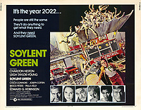 Soylent Green (1973) <br /> Lobby card with Charlton Heston, Leigh Taylor-Young, Edward G. Robinson, Joseph Cotten, Paula Kelly &amp; Chuck Connors<br /> *Filmstill - Editorial Use Only*<br /> CAP/KFS<br /> Image supplied by Capital Pictures