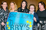 Supporters of Timmy O'Heir and Rachel Fitzgerald, l-r  Patsy O'Heir, Ireen Lynch, Mairead Egan, Mary O'Heir and Mary Egan at the Ardfert Strictly Come Dancing at  Ballyroe Heights Hotel on Saturday