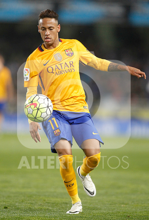 FC Barcelona's Neymar Santos Jr during La Liga match. April 9,2016. (ALTERPHOTOS/Acero)