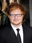 LOS ANGELES, CA - December 02: Ed Sheeran arrives at The Warner Bros' Pictures L.A. Premiere of THE HOBBIT: THE DESOLATION OF SMAUG held at The Dolby Theater in Hollywood, California on December 02,2013                                                                               © 2013 Hollywood Press Agency