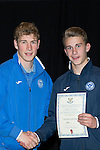 St Johnstone FC Youth Academy Presentation Night at Perth Concert Hall..21.04.14<br /> David Wotherspoon presents to Cameron Lumsden<br /> Picture by Graeme Hart.<br /> Copyright Perthshire Picture Agency<br /> Tel: 01738 623350  Mobile: 07990 594431