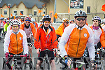 The Cycle against suicide tour of Ireland arriving at Mercy Mounthawk School  on Sunday