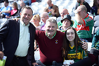 17-1-2017: Kerry supporters Frank Quilter, Sean and Kim Healy, Killarney at the All-Ireland Football final at Croke Park on Sunday.<br /> Photo: Don MacMonagle