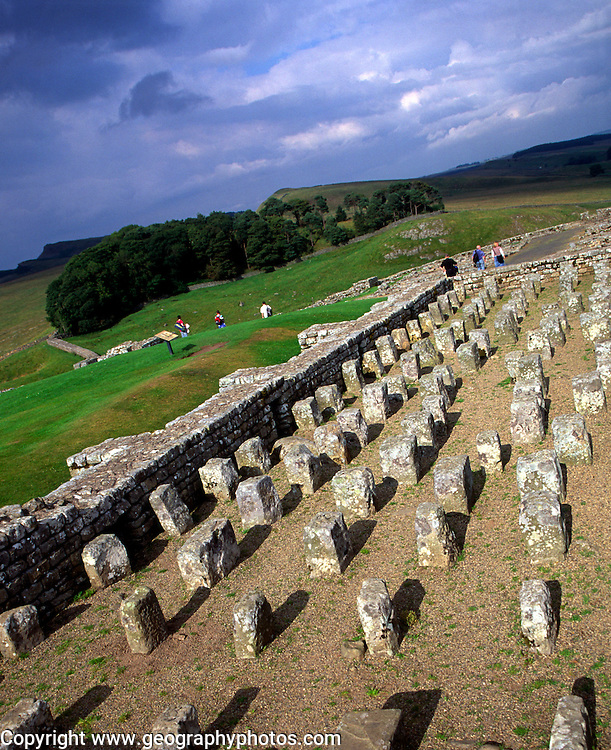 Hypocaust heating system of the granary, Housesteads Roman fort, Hadrian's wall, Northumberland, England