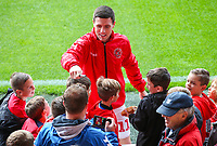 Fleetwood Town's Bobby Grant signs autographs<br /> <br /> Photographer Alex Dodd/CameraSport<br /> <br /> The EFL Sky Bet League One - Fleetwood Town v Accrington Stanley - Saturday 15th September 2018  - Highbury Stadium - Fleetwood<br /> <br /> World Copyright &copy; 2018 CameraSport. All rights reserved. 43 Linden Ave. Countesthorpe. Leicester. England. LE8 5PG - Tel: +44 (0) 116 277 4147 - admin@camerasport.com - www.camerasport.com