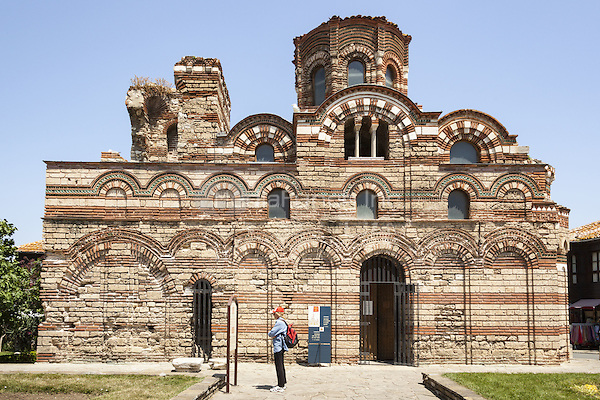 Tourist visiting Christ Pantocrator Church, Nessebar, Bulgaria  June 2015.<br /> CAP/MEL<br /> &copy;MEL/Capital Pictures /MediaPunch ***NORTH AND SOUTH AMERICA ONLY***
