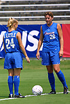 23 August 2002: Jacqui Little (24) and Abby Wambach (28). The Washington Freedom practiced at Herndon Stadium in Atlanta, GA the day before playing the Carolina Courage in the WUSA Founders Cup championship game.<br /> Mandatory Credit: Scott Bales