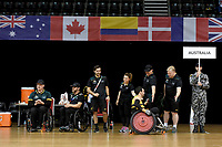 Jake Howe (AUS) vs GB<br /> Australian Wheelchair Rugby Team<br /> 2018 IWRF WheelChair Rugby <br /> World Championship / Semi Finals<br /> Sydney  NSW Australia<br /> Thursday 9th August 2018<br /> © Sport the library / Jeff Crow / APC