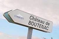 Chateau de Boutenac, Corbieres. Les Corbieres. Languedoc. France. Europe.