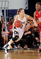 Florida International University guard Zsofia Labady (3) plays against Western Kentucky University.  FIU won the game 60-56 on January 28, 2012 at Miami, Florida. .